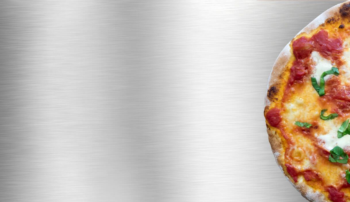 background stahl mit Pizza