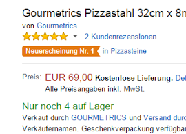 AMAZONs No 1 Pizzastein