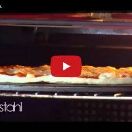Pizzastahl im Zeitraffer
