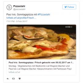 Paul Ivic kocht wieder im ORF mit unserem Pizzastahl.